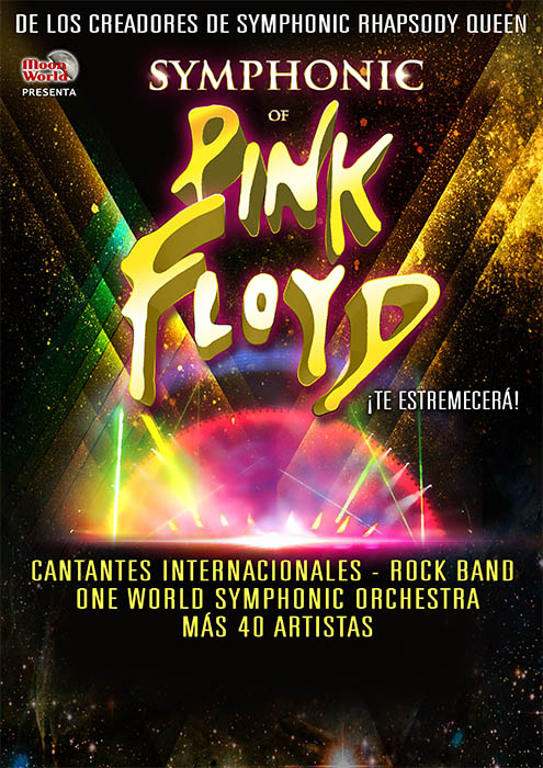 pink floyd, cartell de l'espectacle symphonic of pink floyd