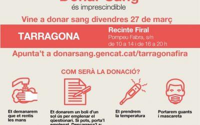 DONACIÓ DE SANG AL RECINTE FIRAL