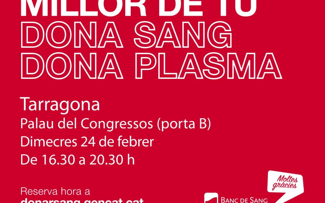 DONACIÓ DE SANG I PLASMA